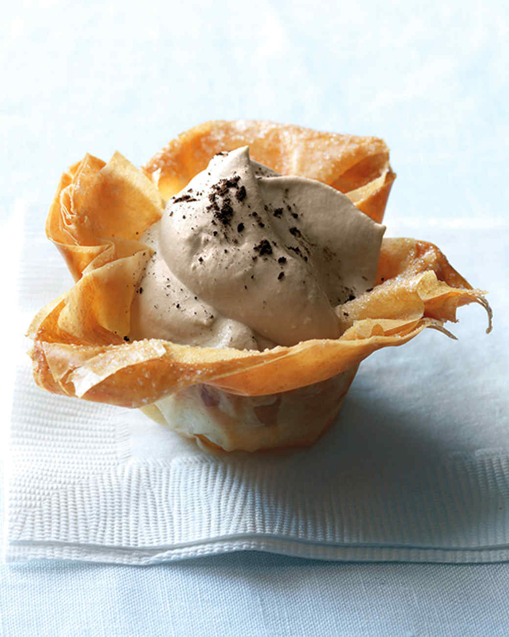 Phyllo Cups with Cappuccino Cream Recipe | Martha Stewart