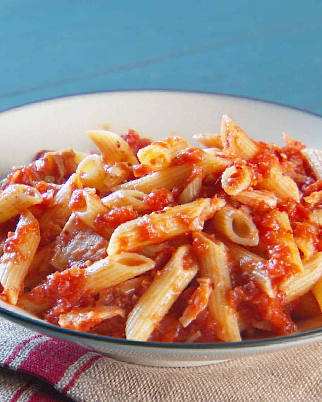 Red pasta recipes