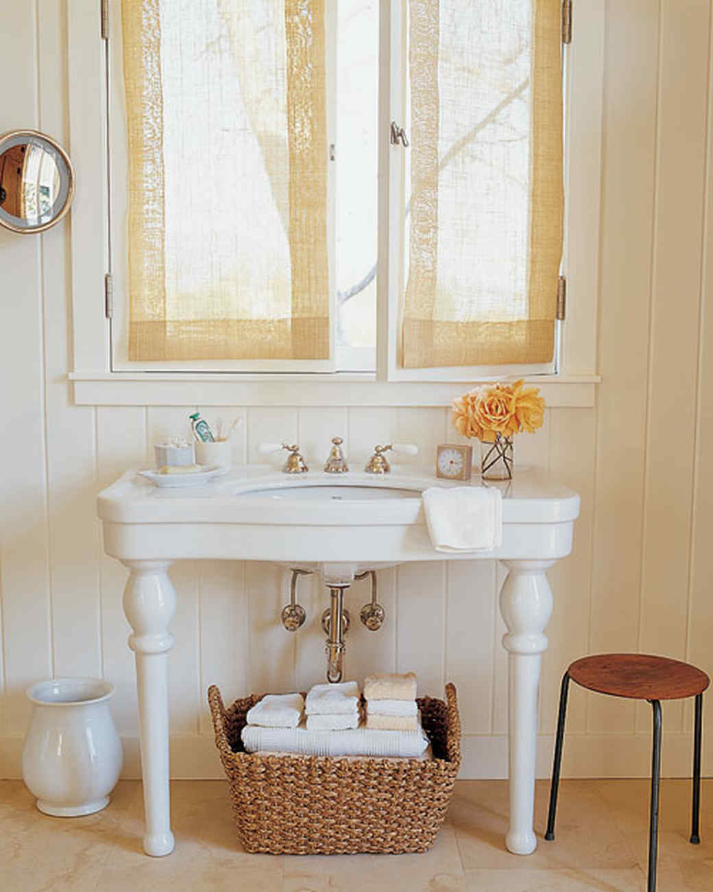 Bathroom Window Above Sink organized bathrooms | martha stewart