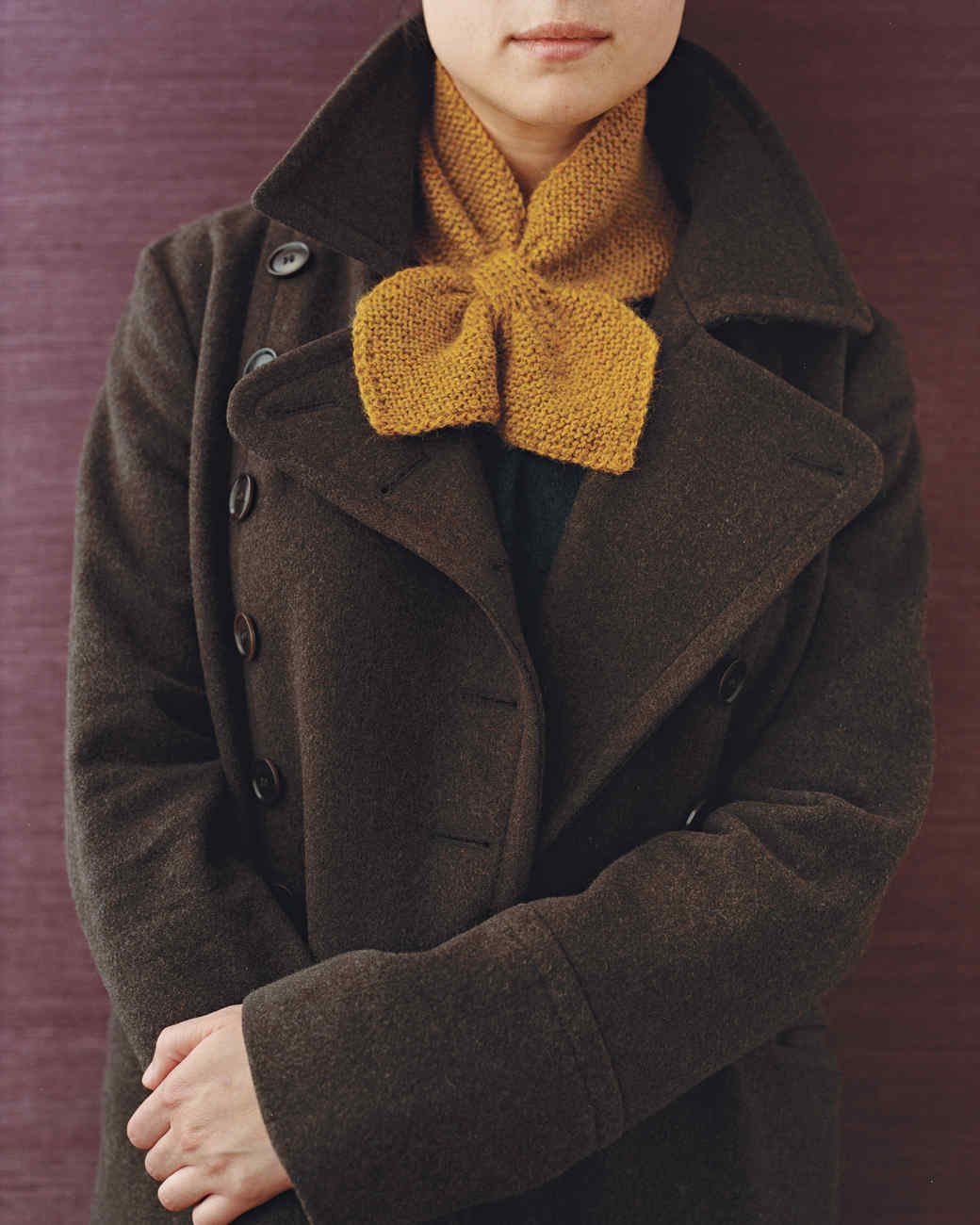 Knitting Patterns For Collar Scarf : 7 Knitted Scarves to Feel Cozy and Comfortable Martha Stewart