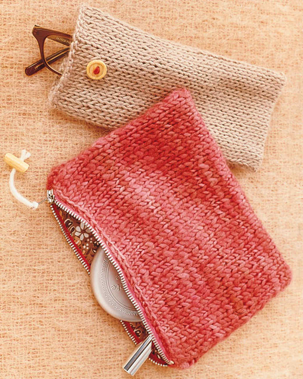 Knit Pouches - Martha Stewart