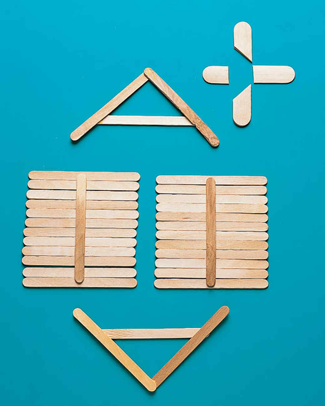 Popsicle stick house martha stewart for How to build a house step by step