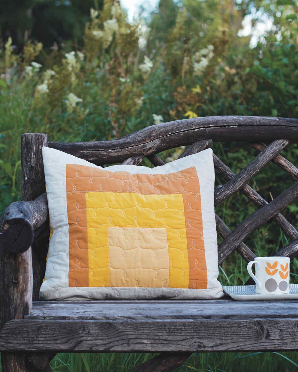Mid-Century Modern Quilted Pillows Martha Stewart