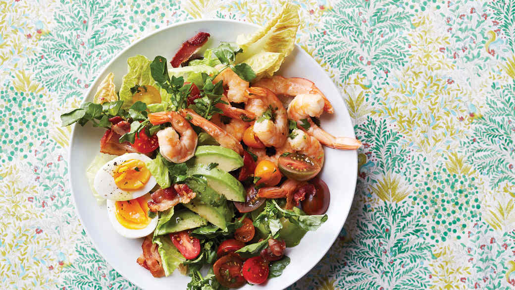 Shrimp Cobb with Cilantro-Lime Dressing
