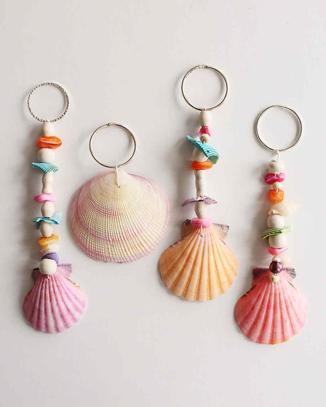 Unique Beaded Periwinkle Seashell Coloring Page: Seashell Keychains