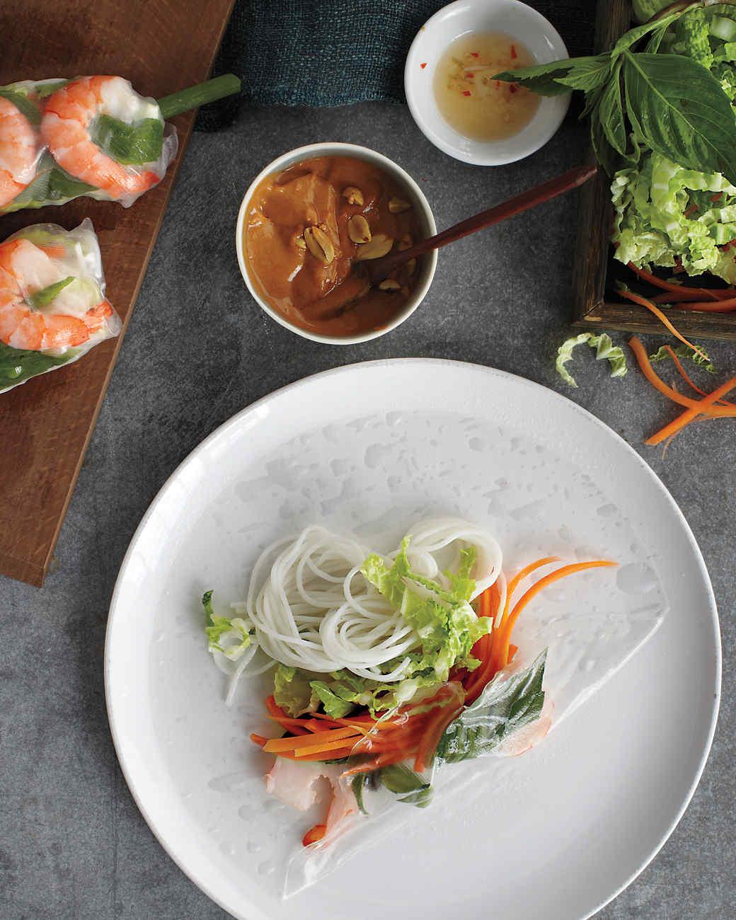 Shrimp Summer Rolls Recipe   Martha Stewart