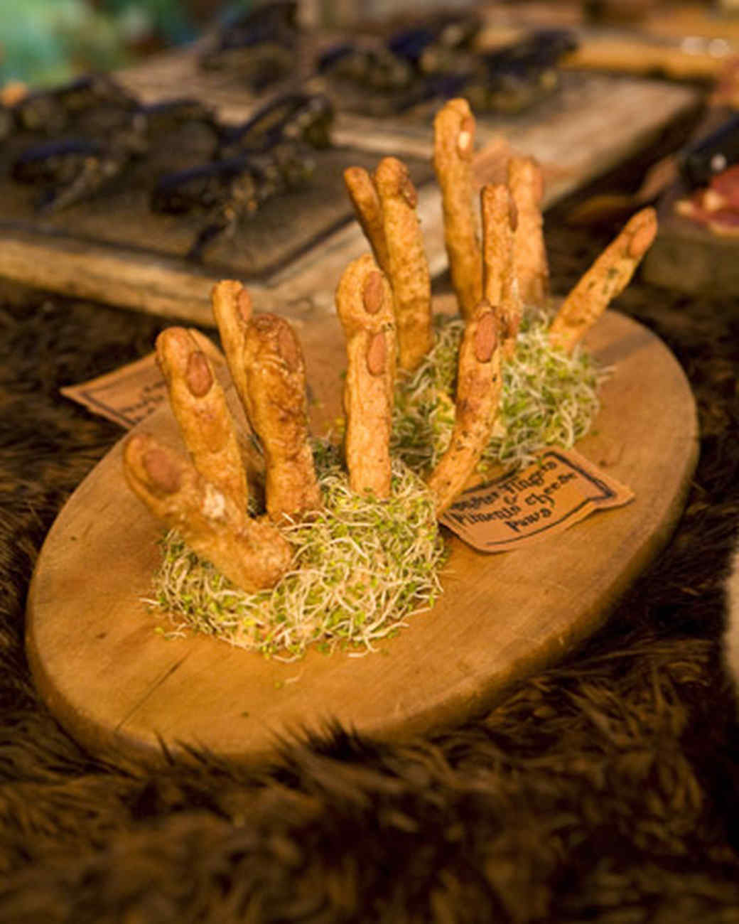 Monster Fingers and Pimento Cheese Paws Recipe | Martha Stewart