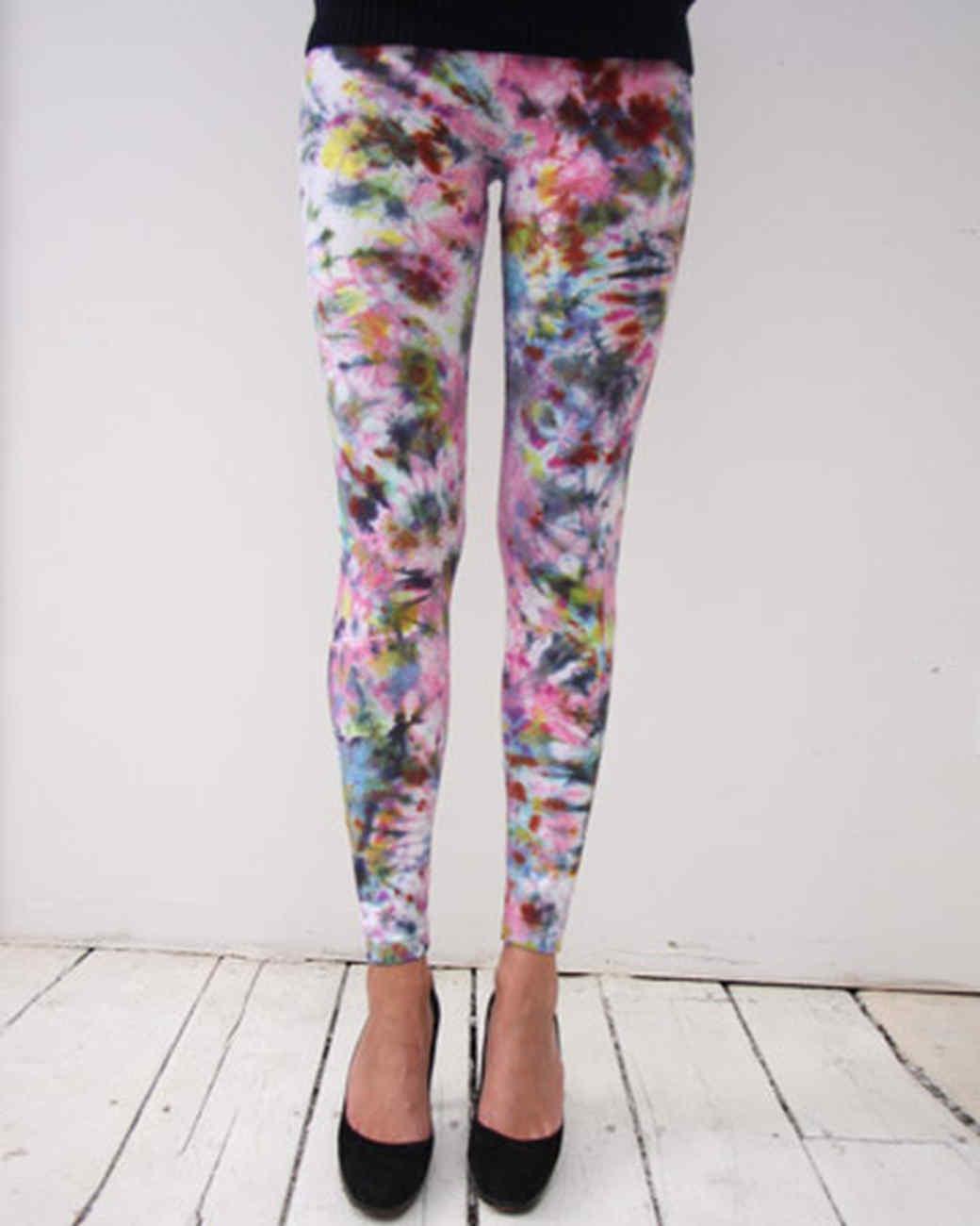 Tie Dyed Leggings Amp Video Martha Stewart