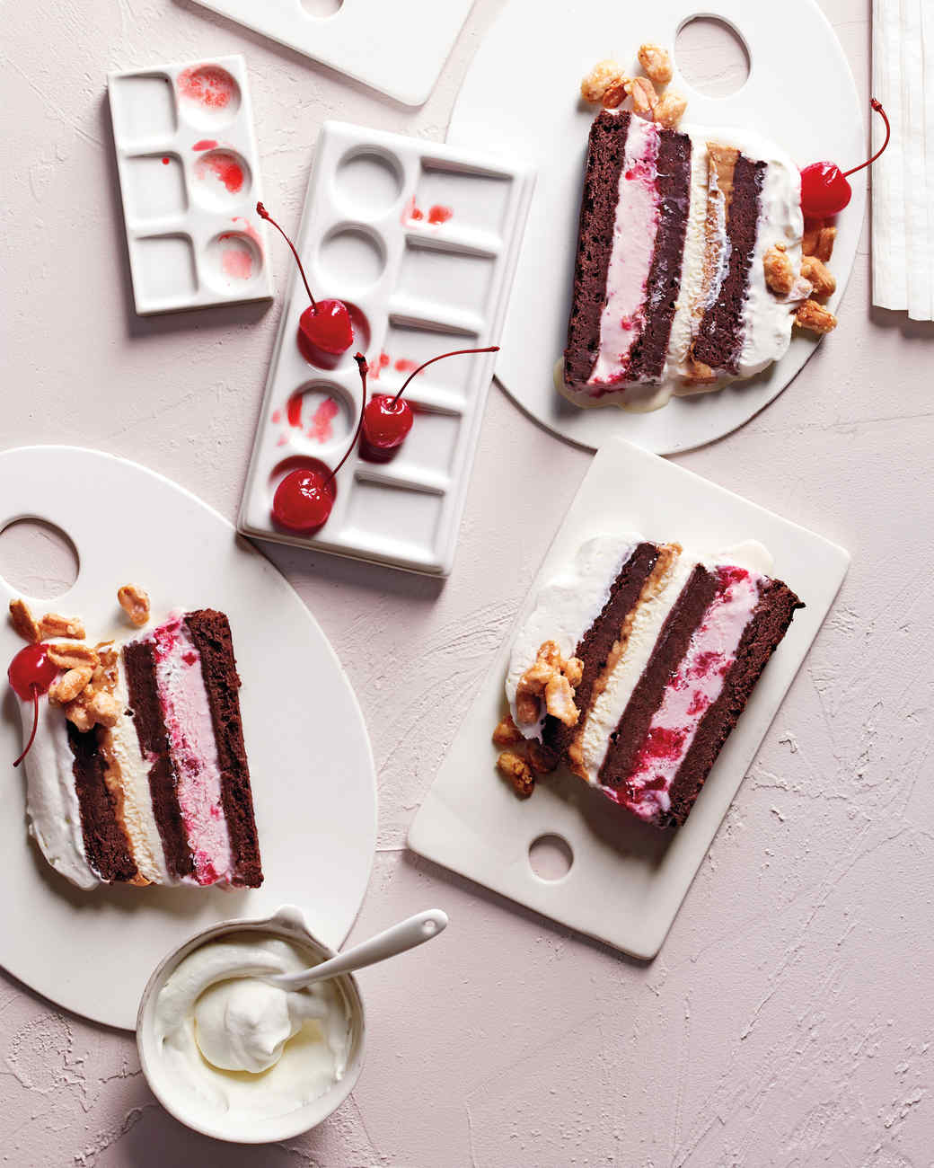 Cherry vanilla ice cream cake recipe