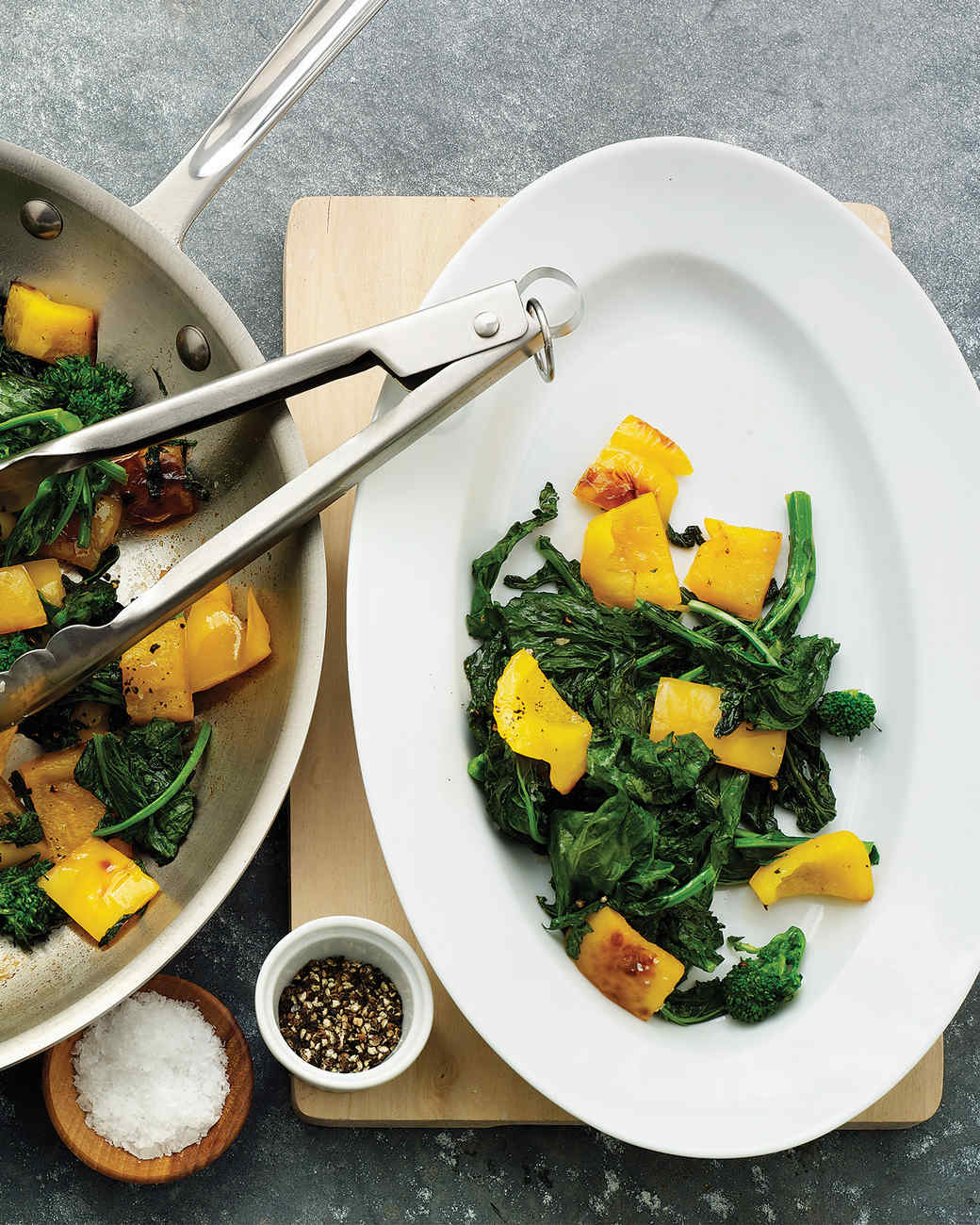 Broccoli Rabe with Yellow Peppers