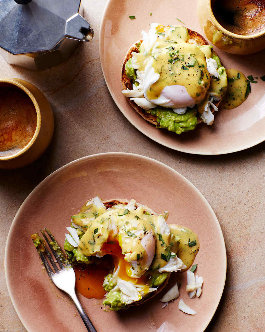 Crab-and-Avocado Eggs Benedict