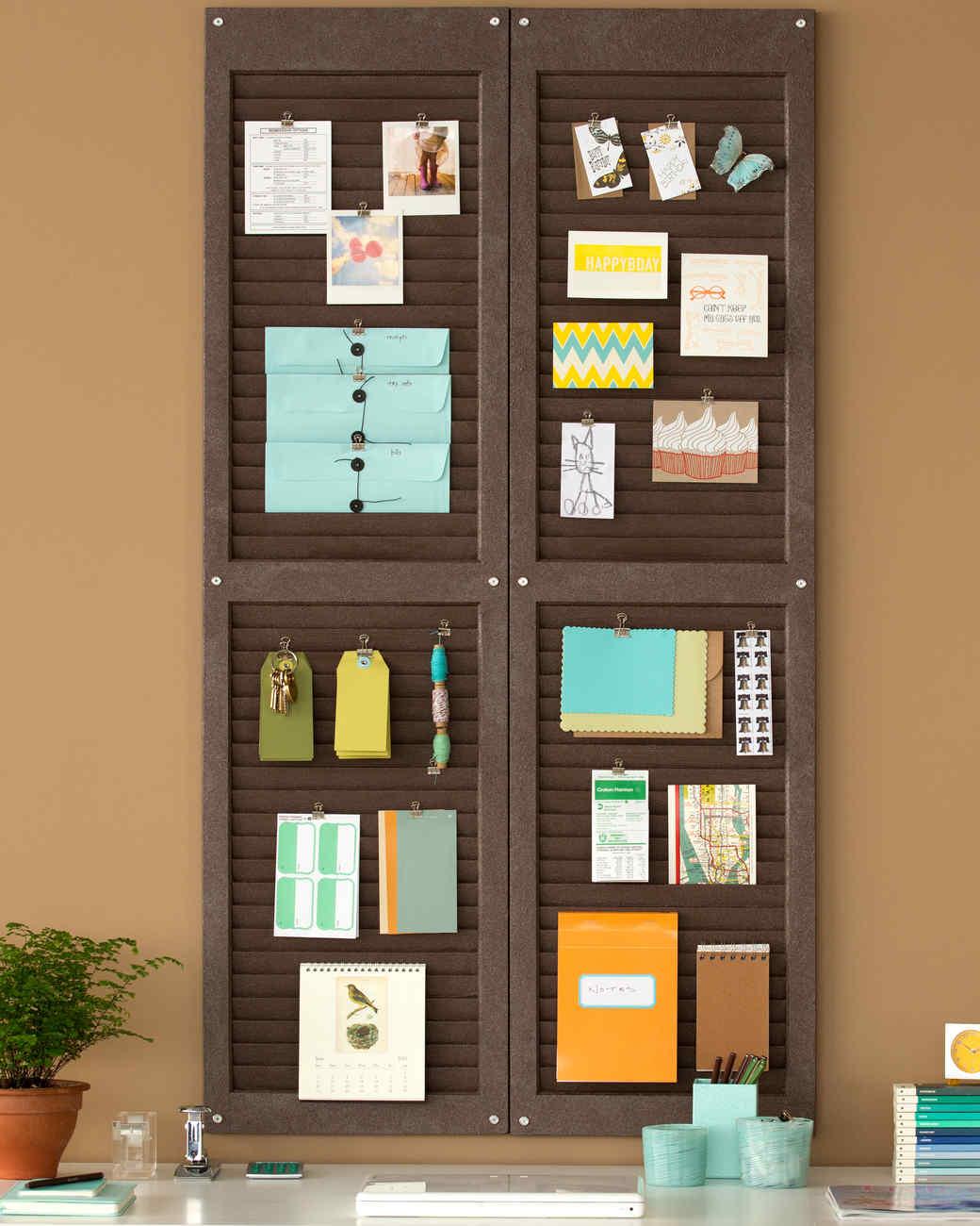 Get organized diy tips martha stewart for Window shutter crafts