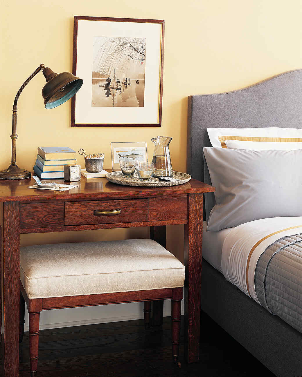 bedroom organization tricks martha stewart bedside work surface