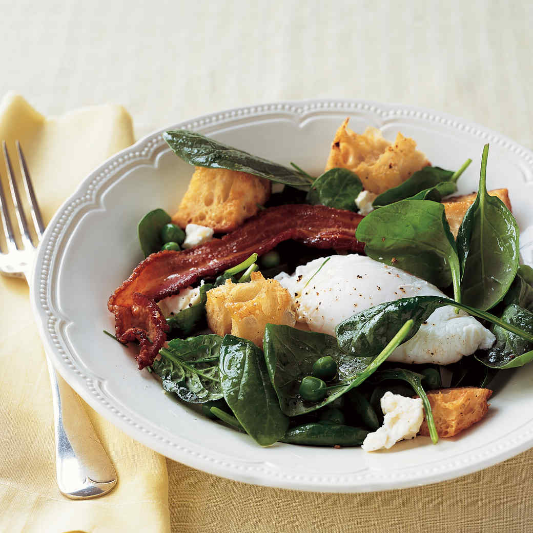 Warm Spring Salad with Poached Eggs