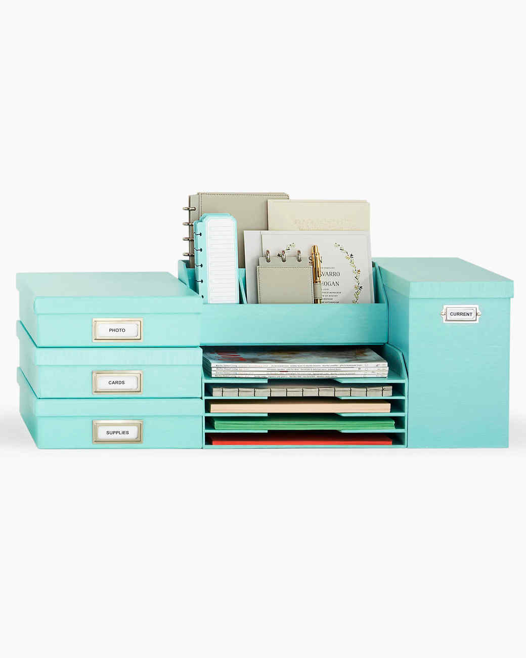 10 Colorful Ways To Organize Your Office Martha Stewart
