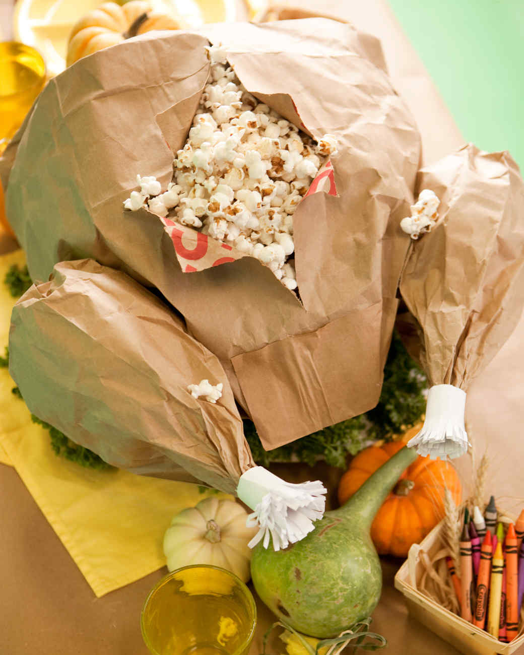 Paper Thanksgiving Centerpiece : Paper bag turkey video martha stewart