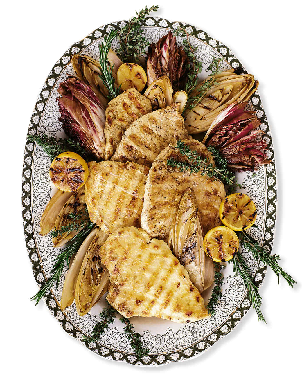 Grilled Chicken Paillards with Endive and Radicchio