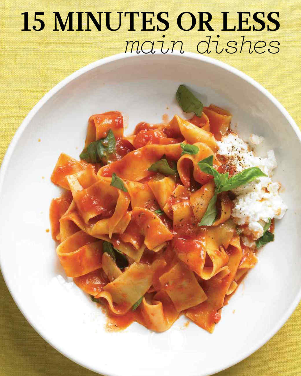 Quick and easy main meals recipes