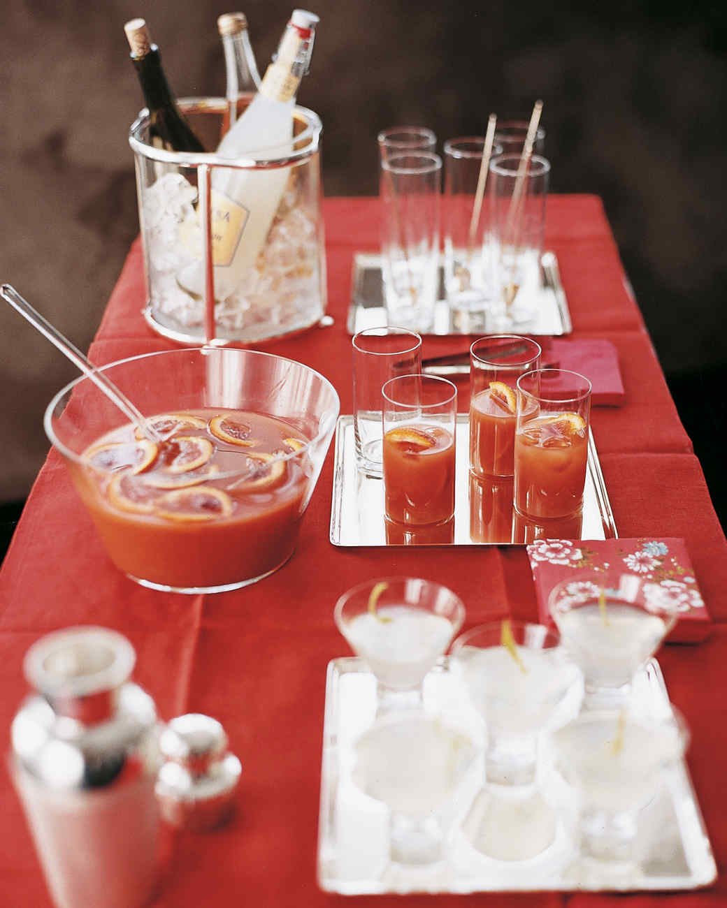Blood orange punch for Party food and drink ideas
