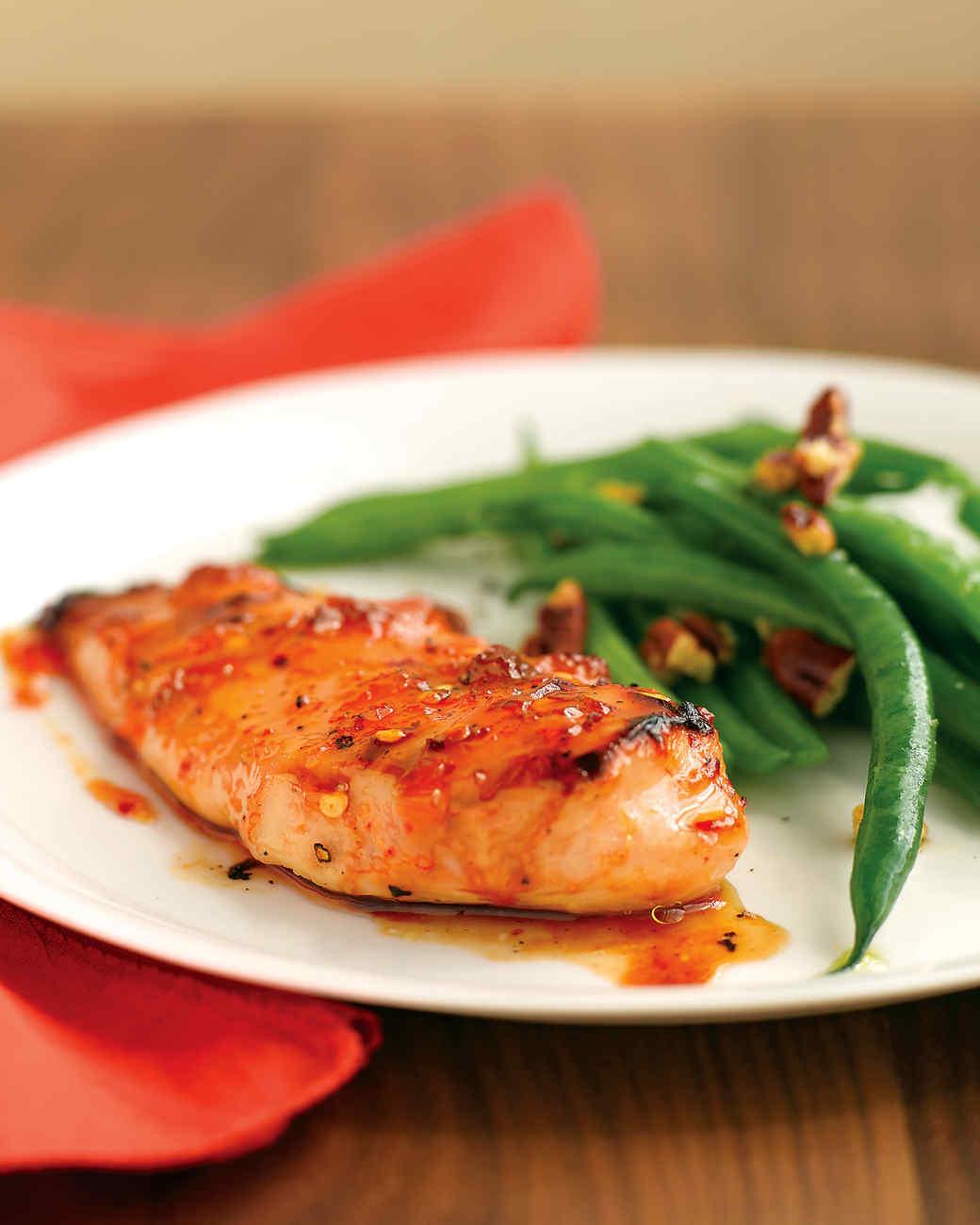 Spicy Apricot-Glazed Chicken Recipe | Martha Stewart