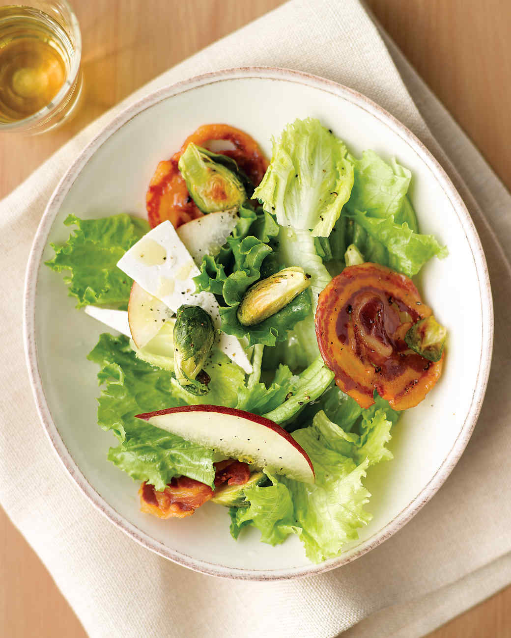 Salad with Pancetta Crisps, Roasted Brussels Sprouts, and Pear Recipe ...