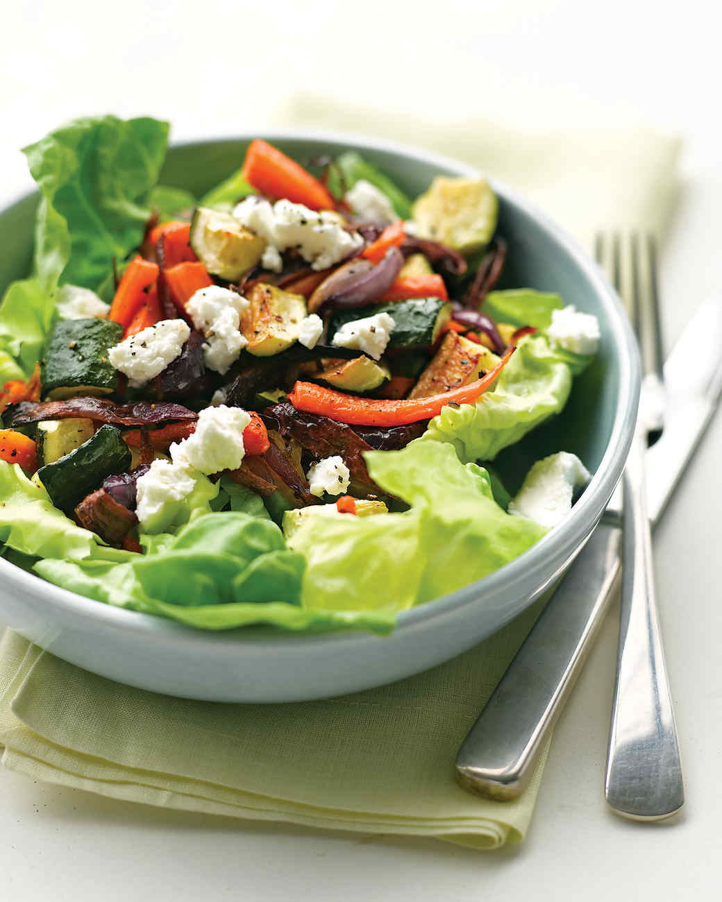 Roasted Vegetable Salad with Goat Cheese Recipe | Martha Stewart