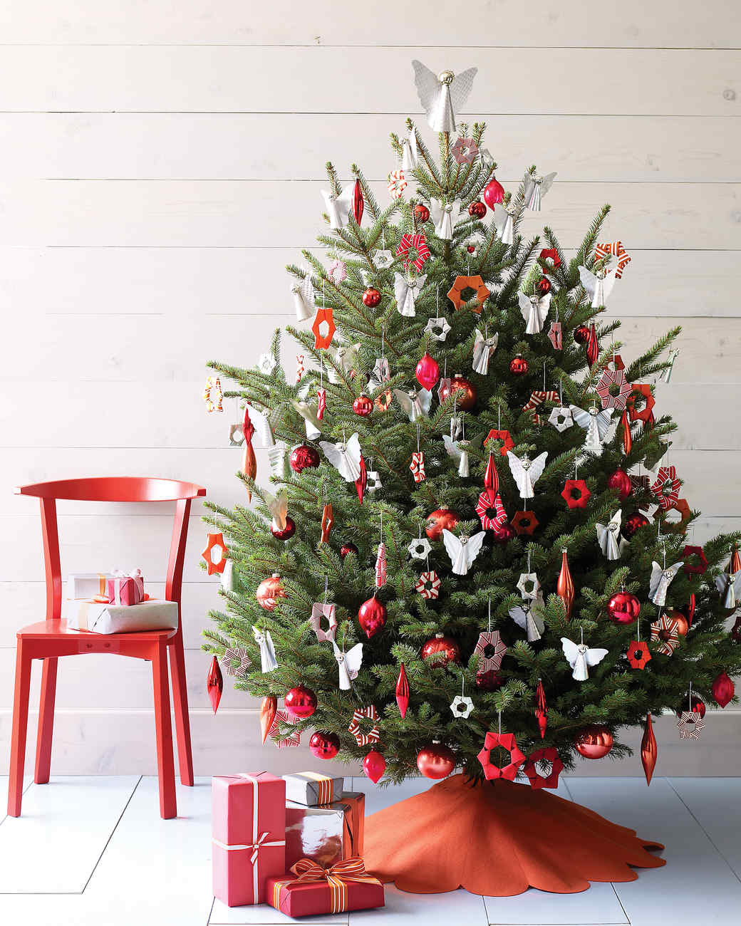 27 creative christmas tree decorating ideas | martha stewart