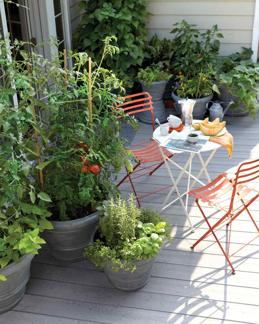small-space garden ideas | martha stewart - Patio Gardening Ideas