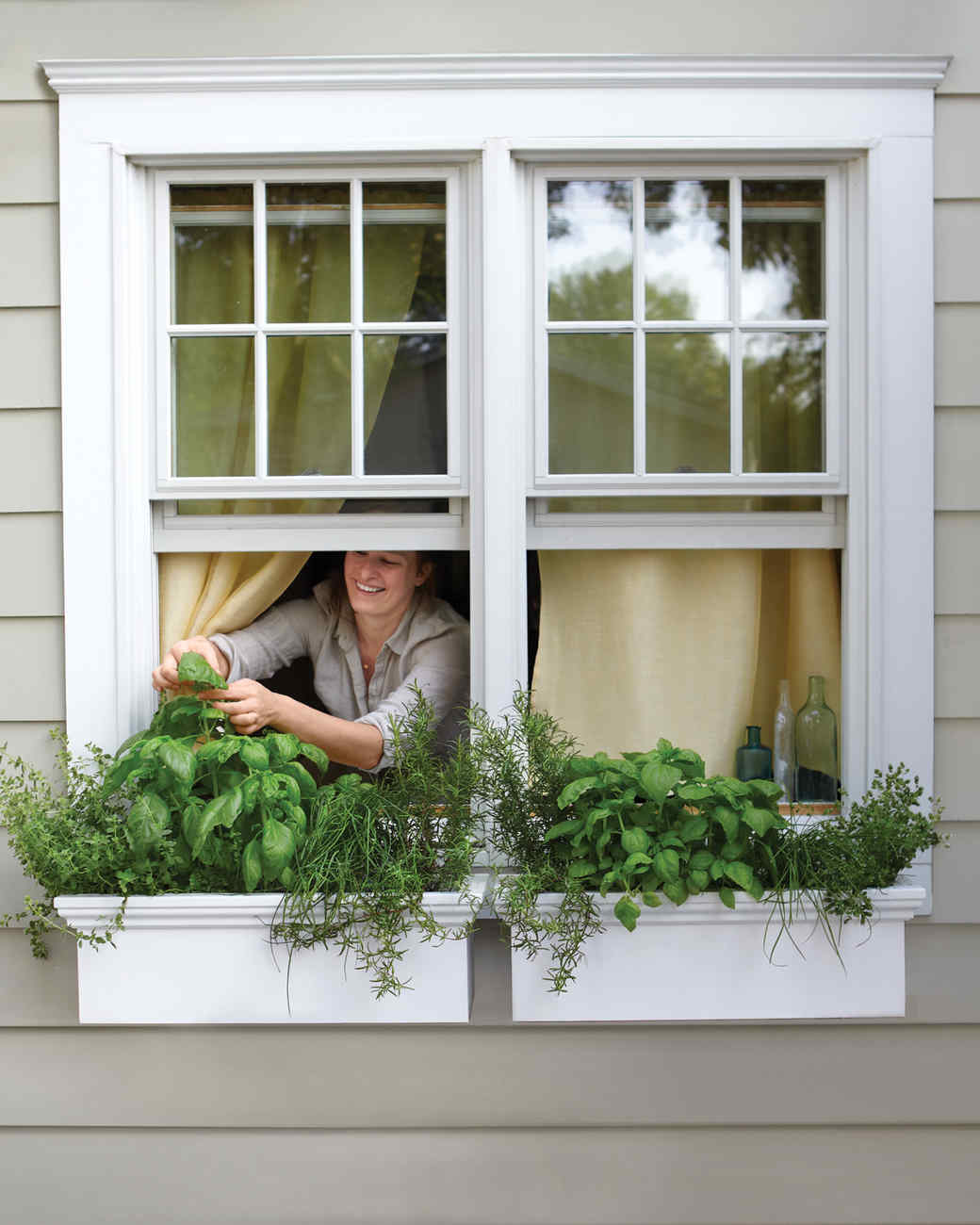 Kitchen Window Herb Planter: Small-Space Garden Ideas