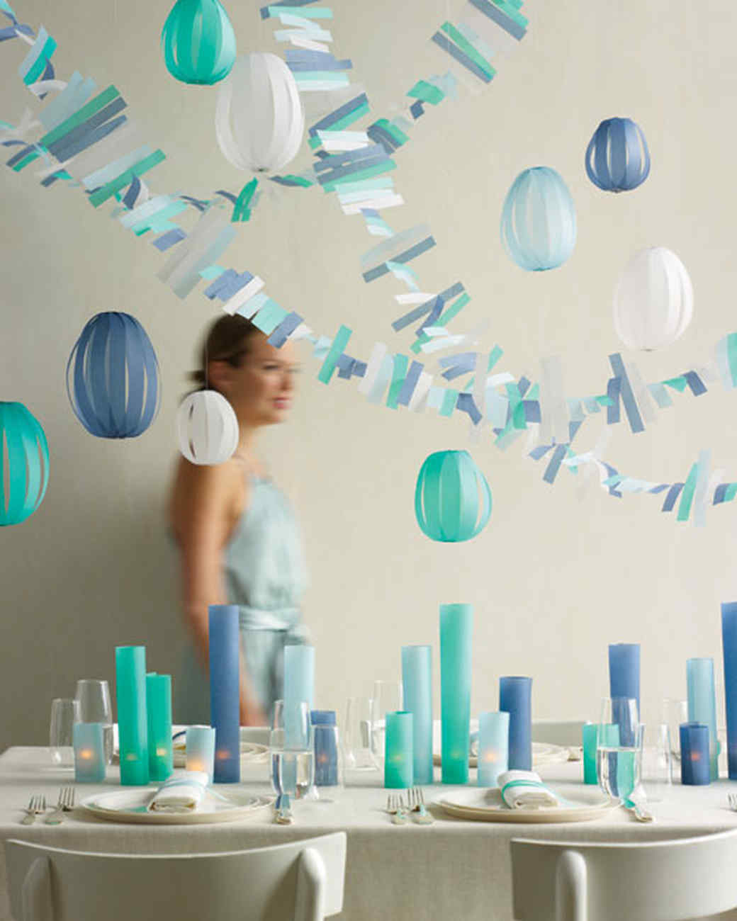 Our best baby shower decorations martha stewart for Baby shower ceiling decoration ideas