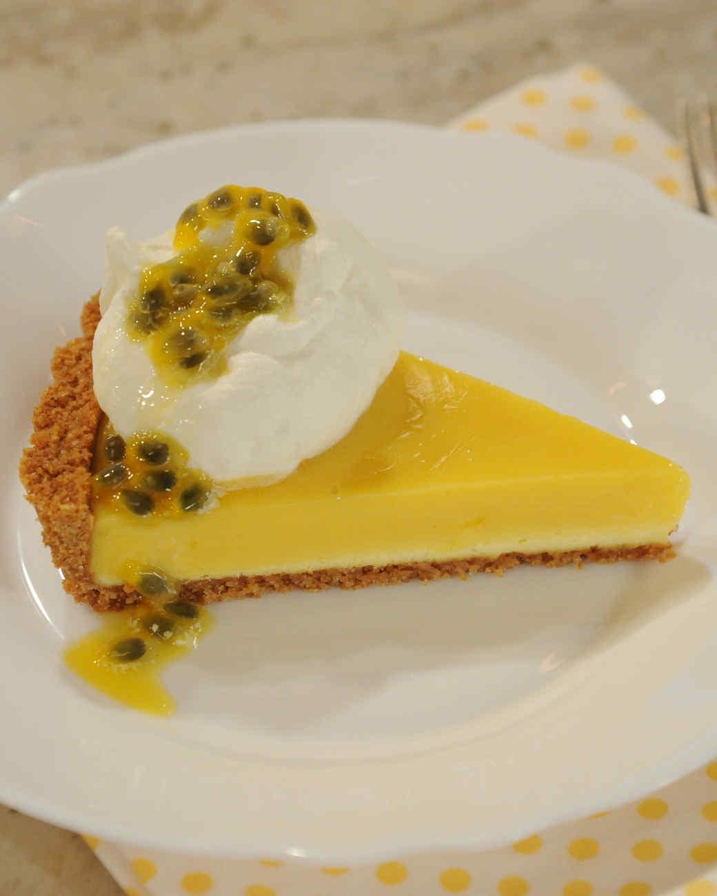 Passion Fruit Cheesecake Tart Recipe & Video   Martha Stewart
