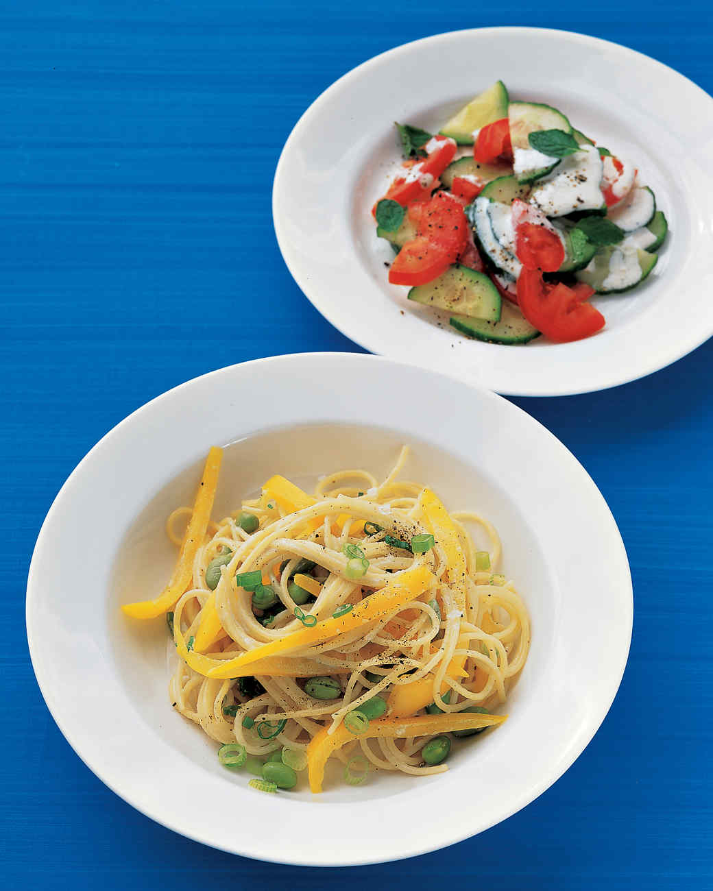 Pasta with Tahini and Bell Pepper