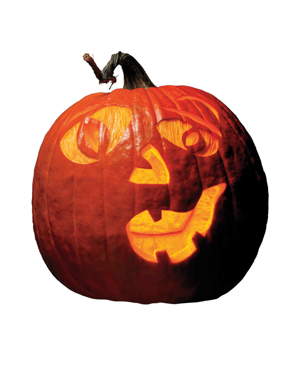 Halloween pumpkin carving patterns and templates