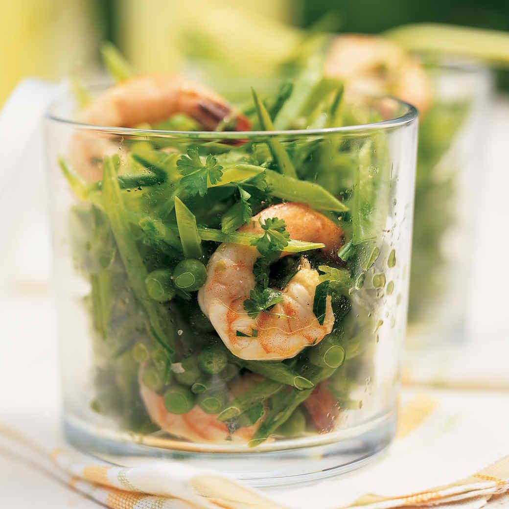 Shrimp Salad with Peas and Chervil Vinaigrette
