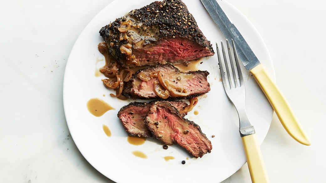 Flat-Iron Steak au Poivre