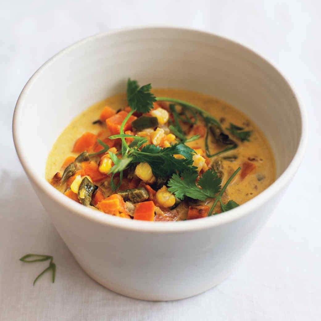Dr. Weil's Sweet Potato-Poblano Soup
