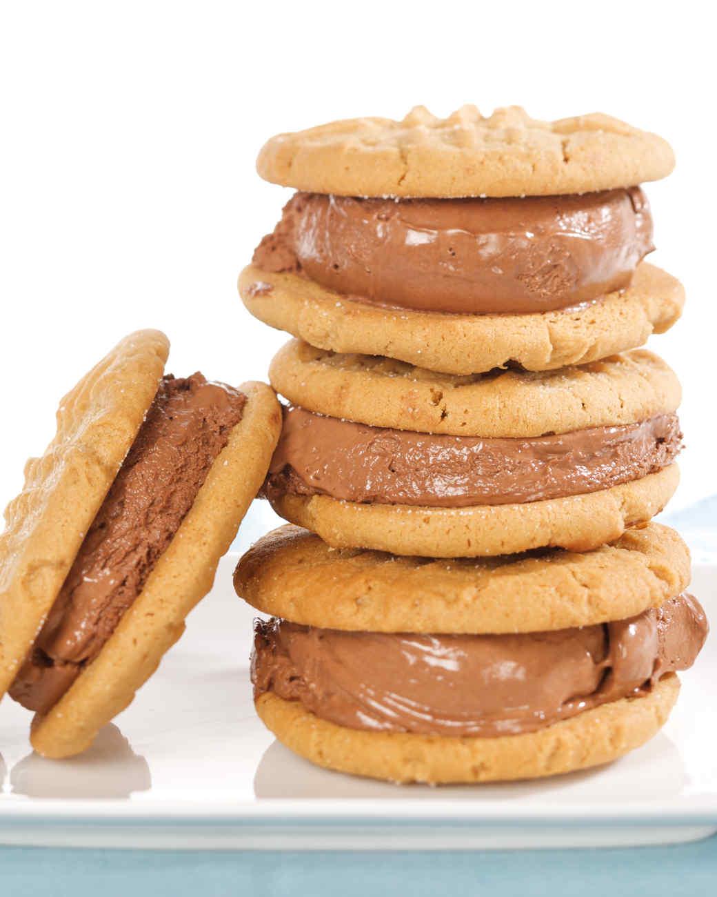 Peanut-Butter and Chocolate-Ice-Cream Sandwich Cookies Recipe ...