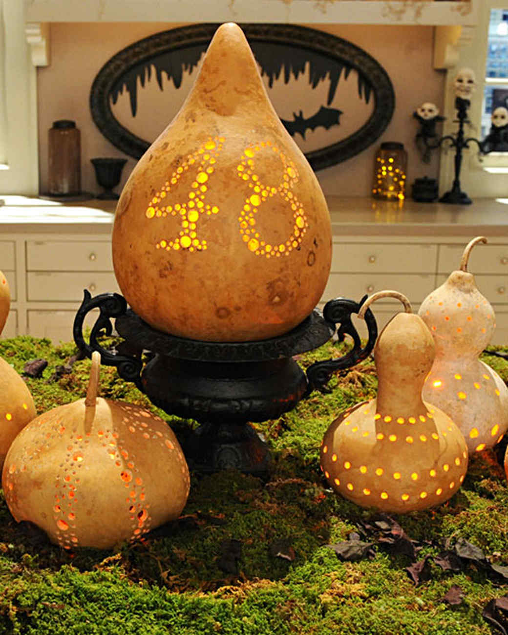 Ideas For Decoration: Gourd Luminaries & Video