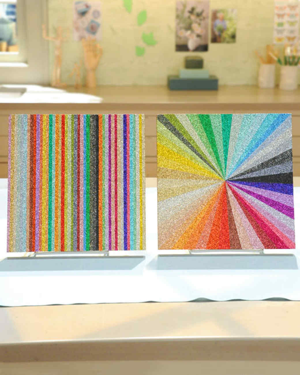 Glitter Wall Art glitter wall art & video | martha stewart