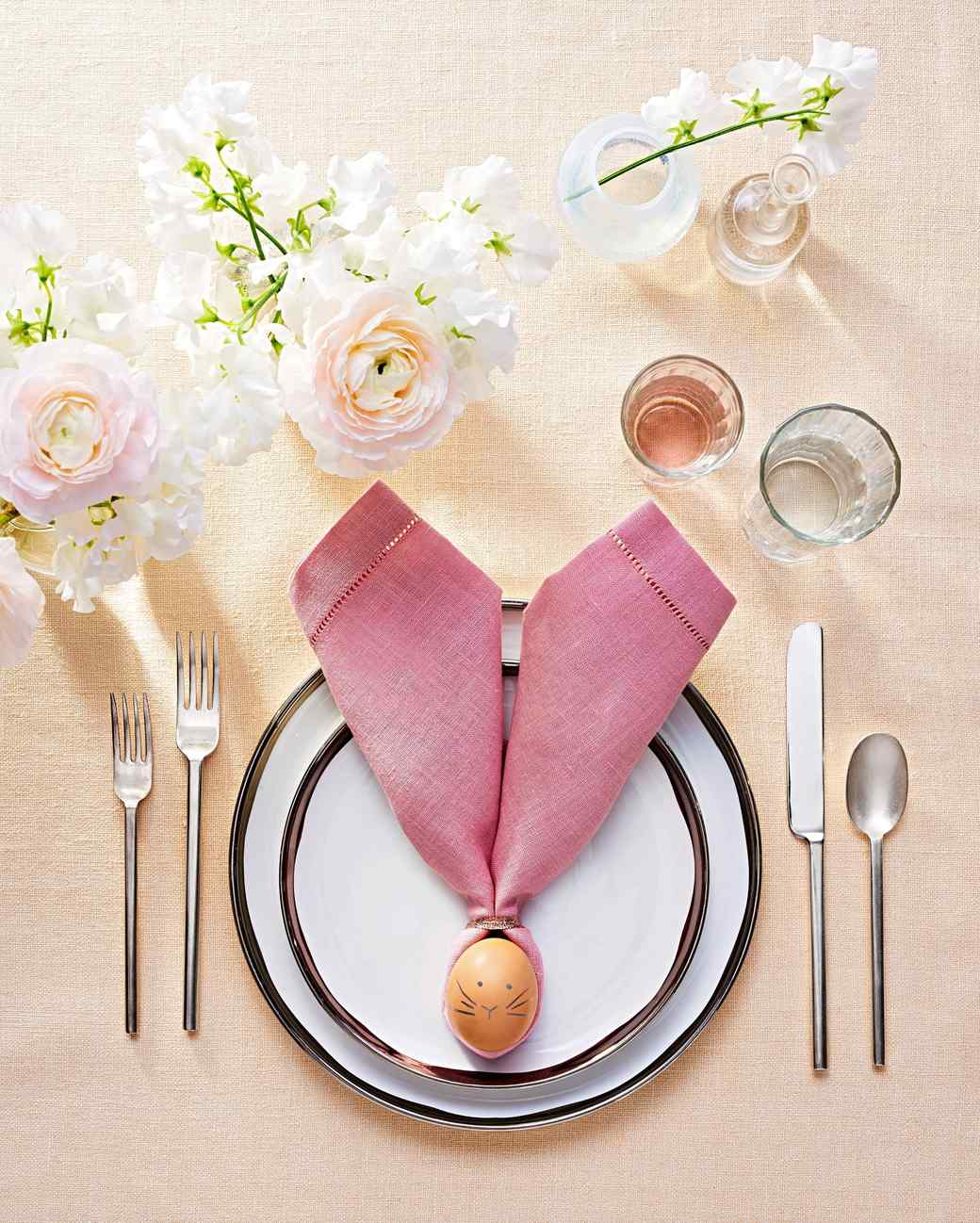 Easter Bunny Napkins Martha Stewart