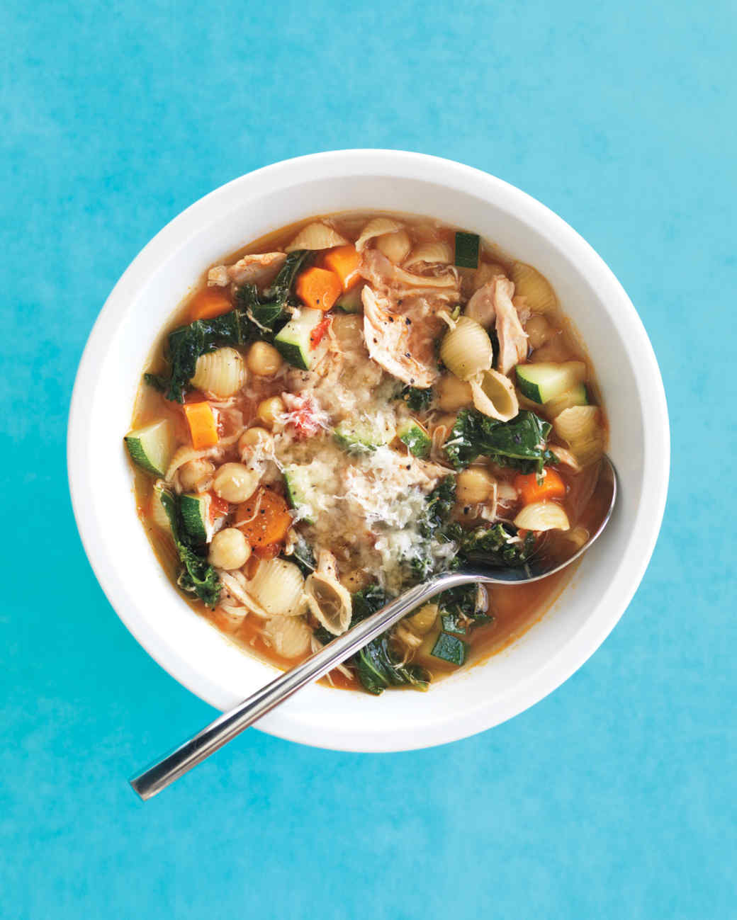 Italian Chicken Minestrone Recipe Martha Stewart