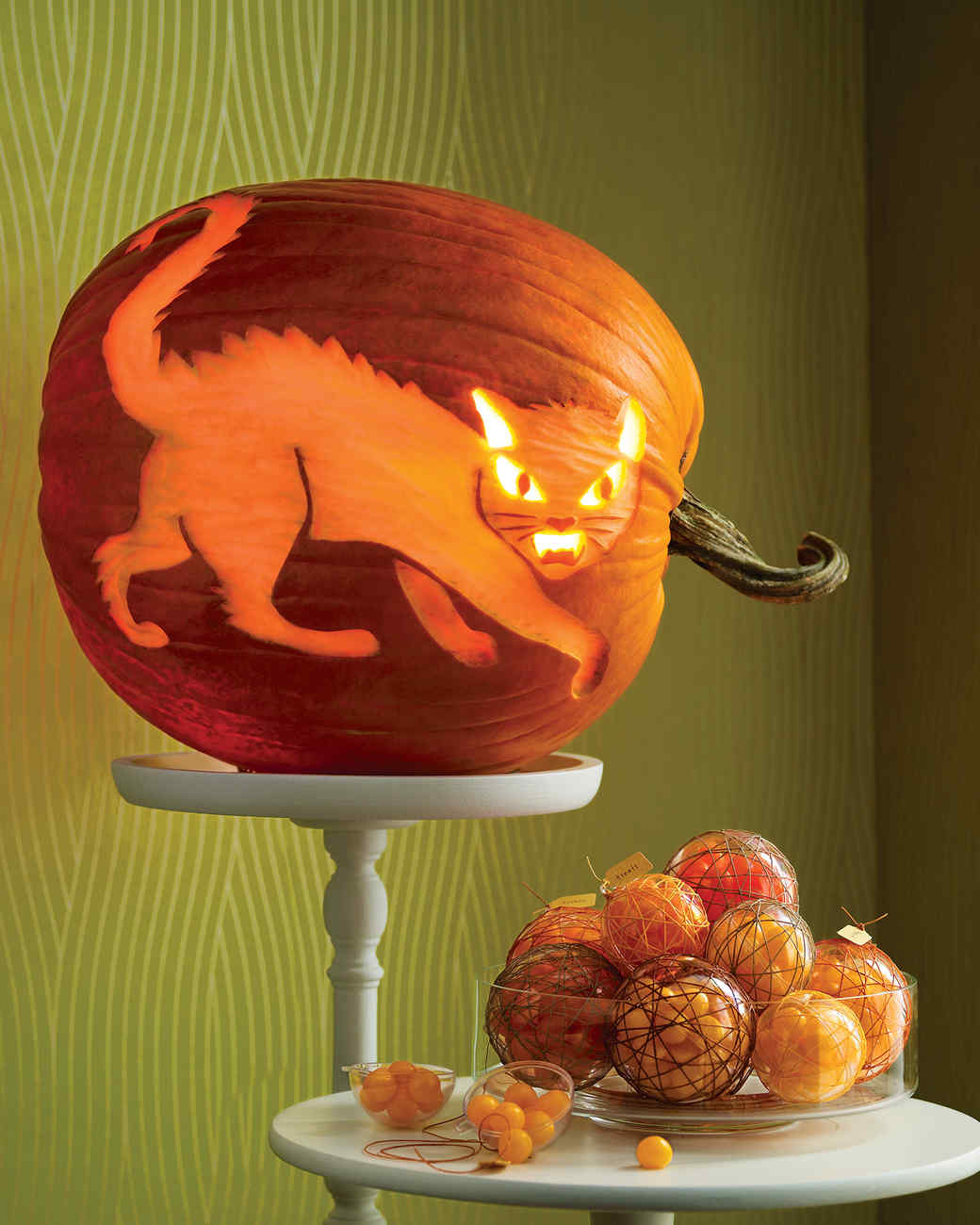 Fierce feline pumpkin martha stewart