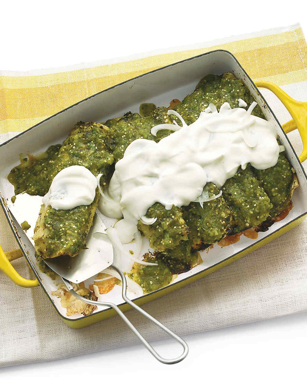 Chicken Enchiladas Verdes Recipe  Video Martha Stewart