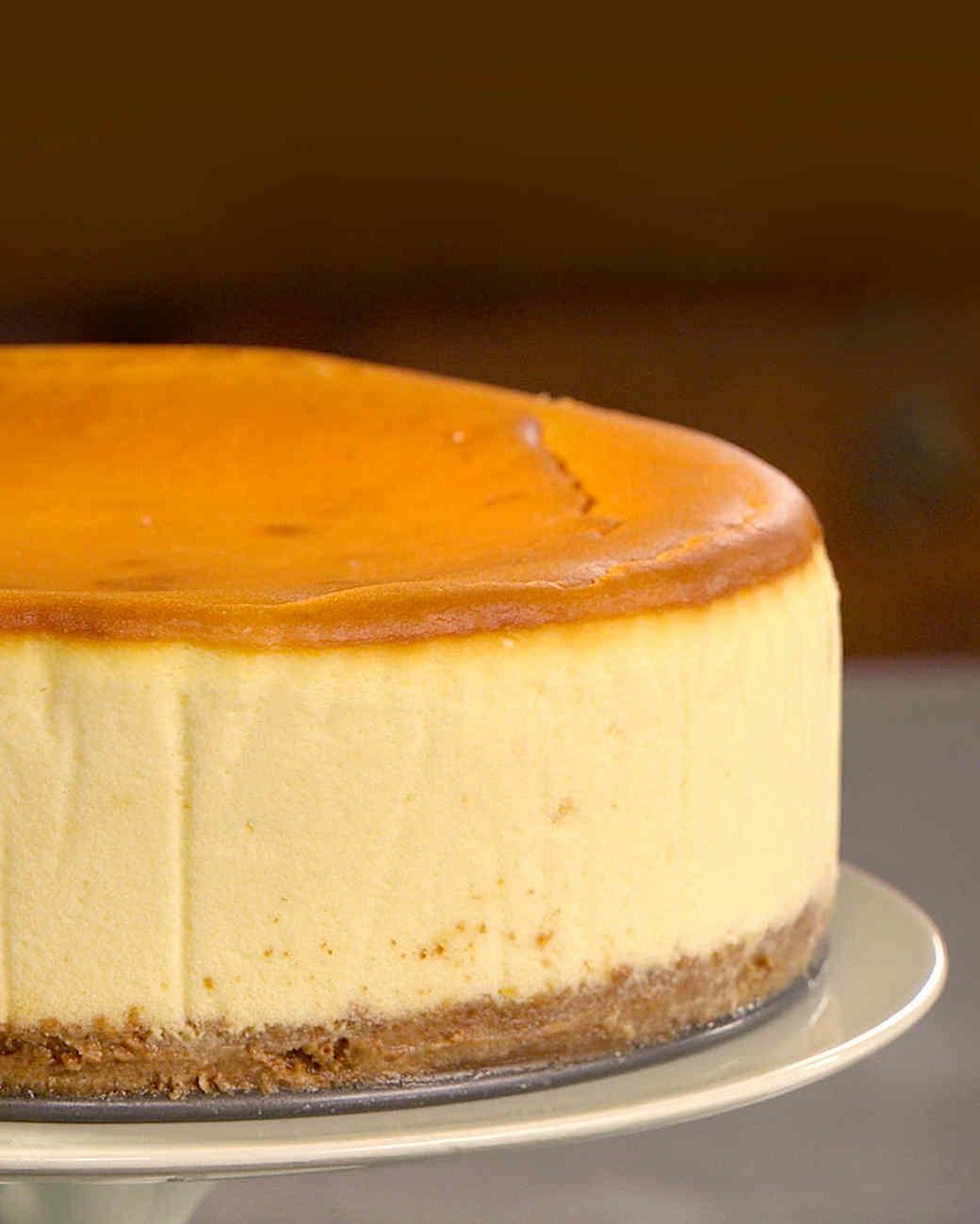 new york style cheesecake recipe martha stewart. Black Bedroom Furniture Sets. Home Design Ideas