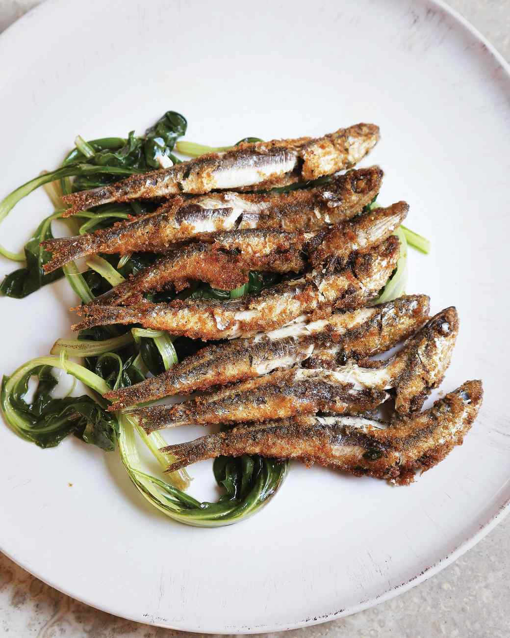 Pan-Fried Anchovies Recipe | Martha Stewart