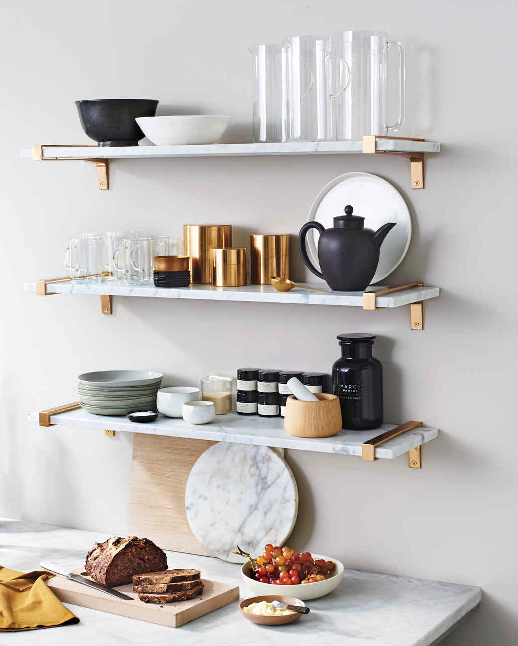 Photography  Aaron Dyer5 Genius Approaches to Shelving  Plus 2 Tips to Keep Them Secure  . Ferm Living Shelf Brackets. Home Design Ideas