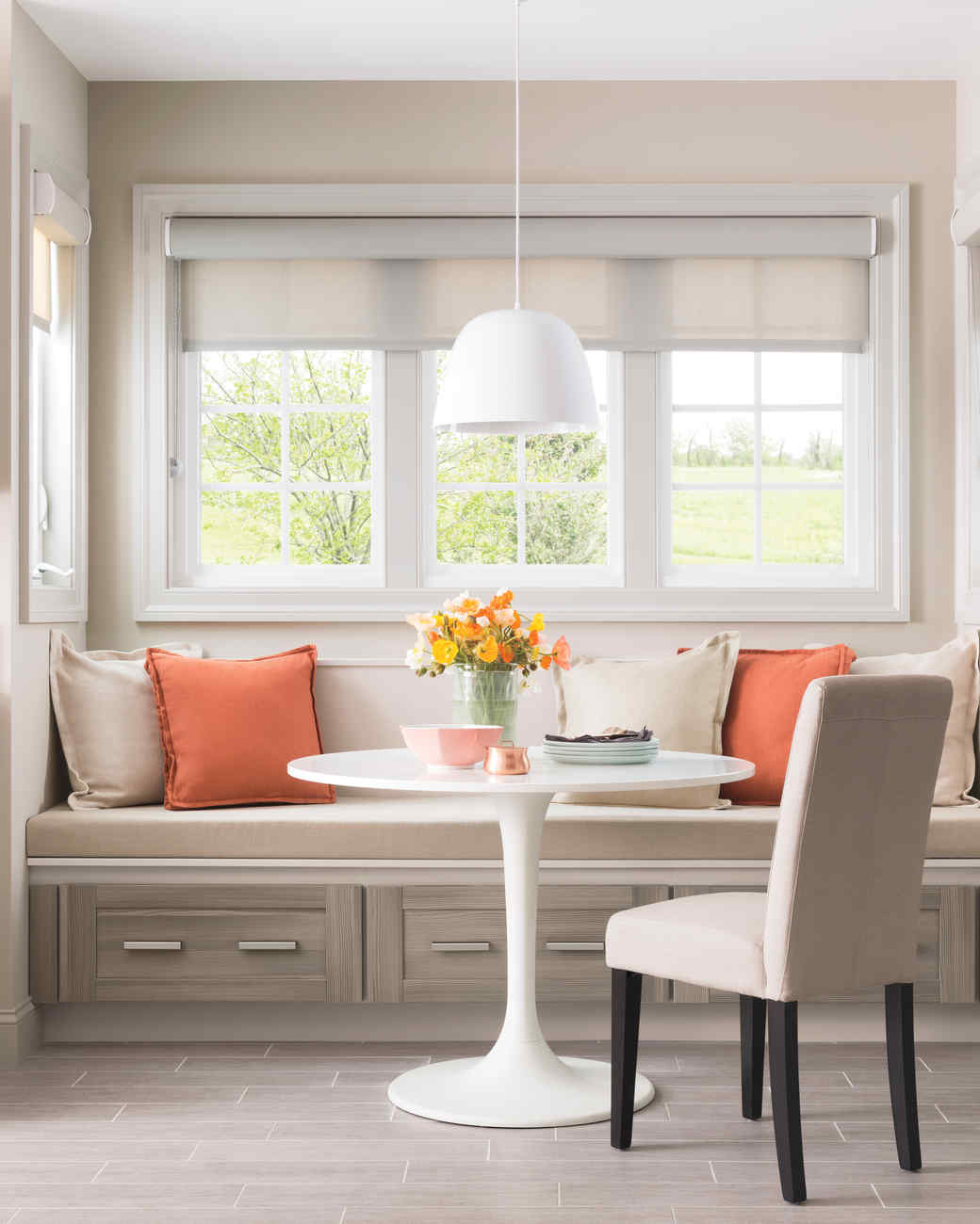 Custom Banquette: Martha Stewart Living Gardner Kitchen