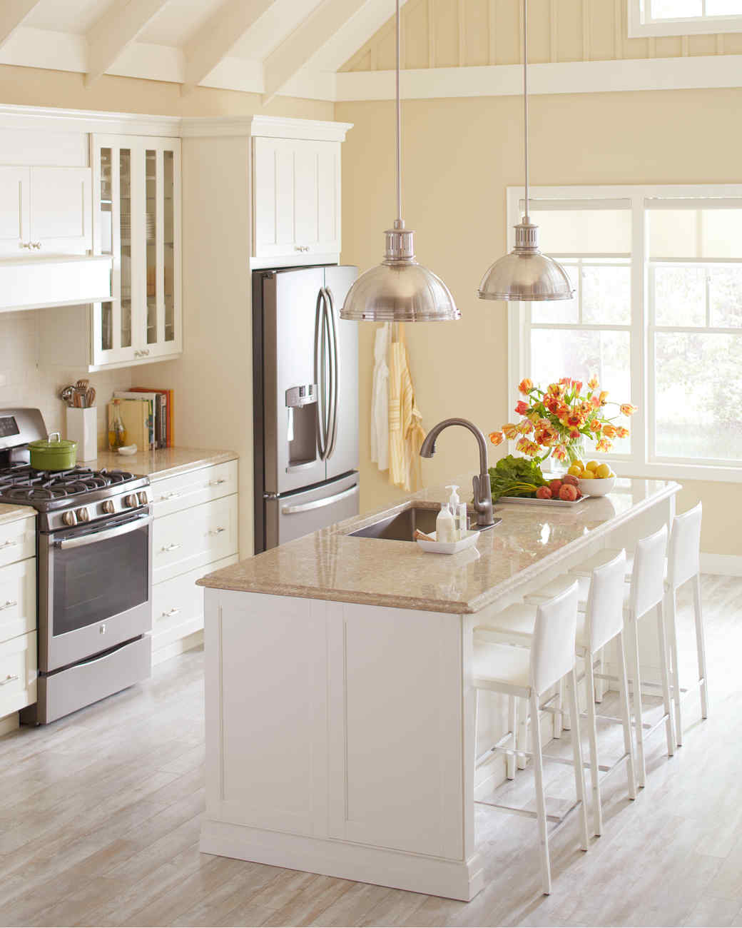 Home depot quartz and corian countertops martha stewart for Kitchen upgrades