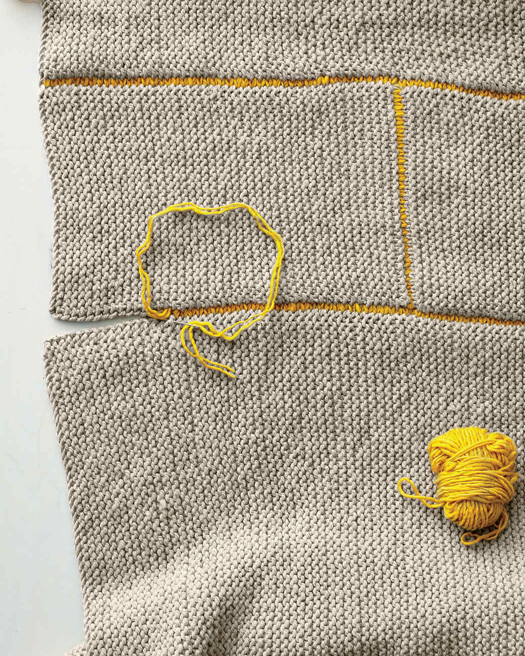 Knitting Blanket Stitch Seam : Knit Blanket & Video Martha Stewart