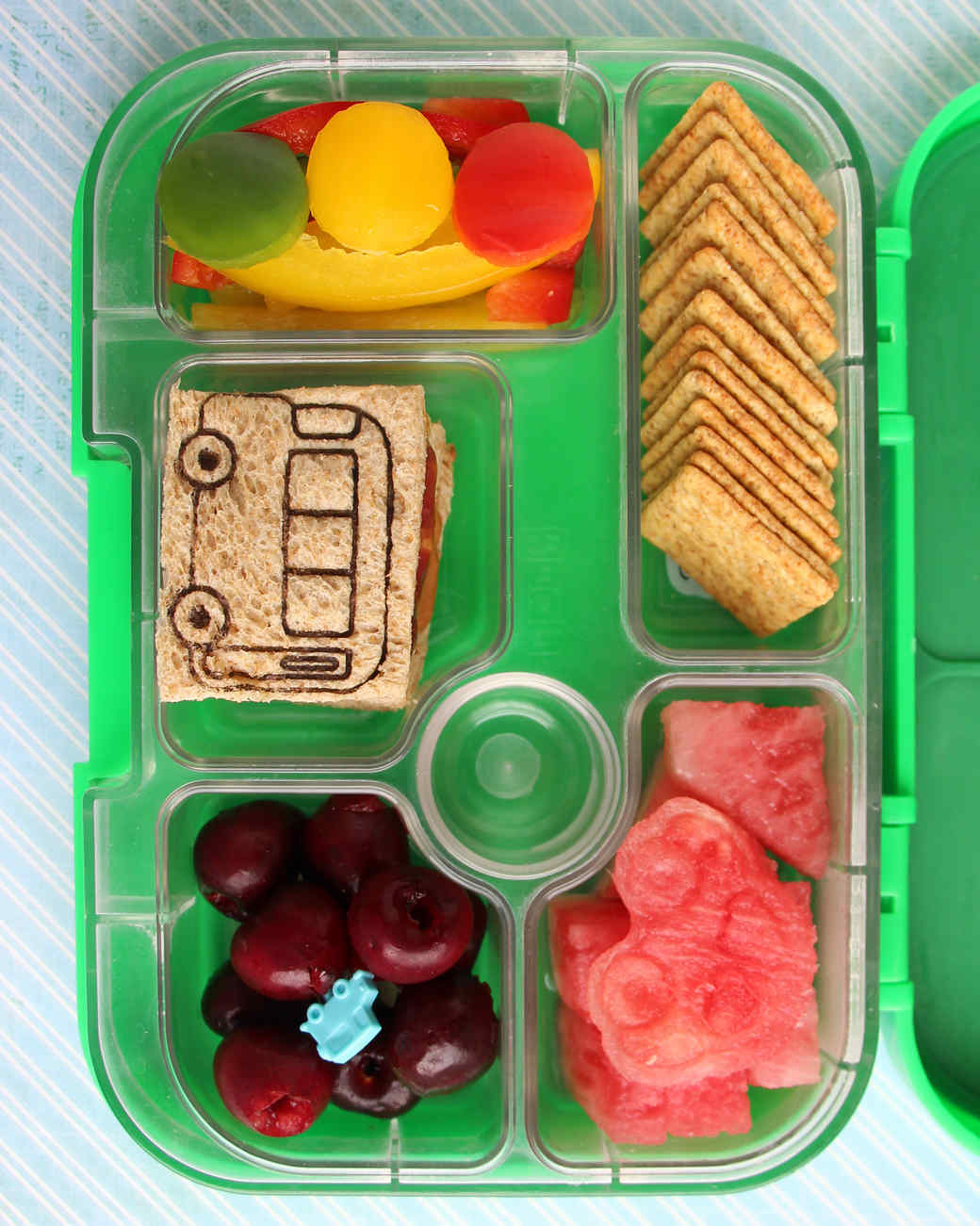 12 super cool kids 39 bento box lunches you can actually make martha stewart. Black Bedroom Furniture Sets. Home Design Ideas